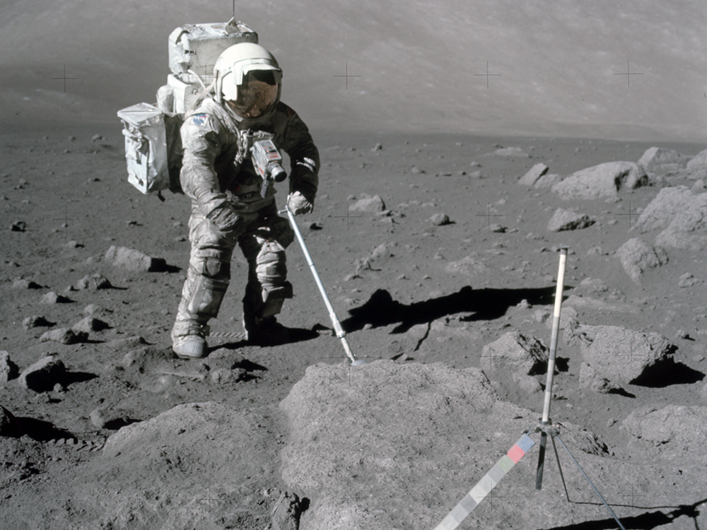 Apollo 12 sampling  (courtesy of NASA)