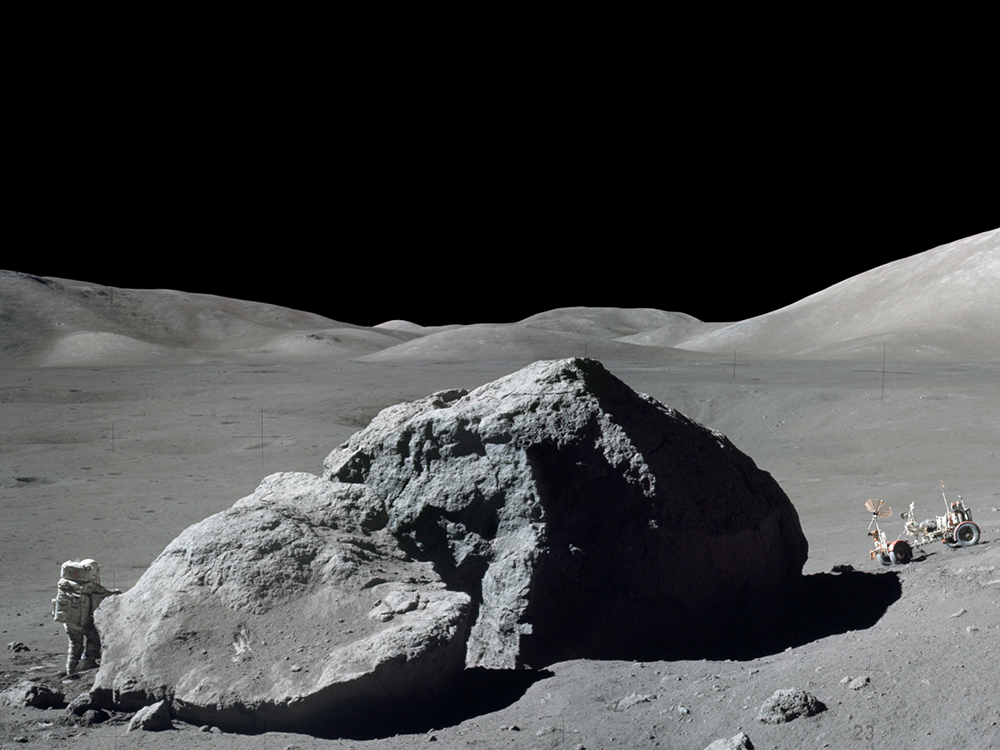 Apollo 17 Tracy's Rock (courtesy of NASA)