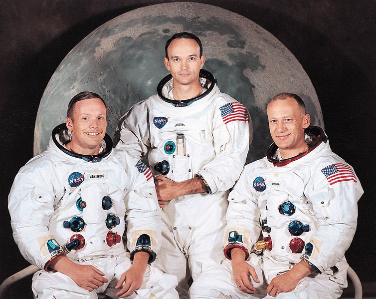 Apollo 11 crew: Neil Armstrong, Michael Collins & Buzz Aldrin (courtesy of NASA)