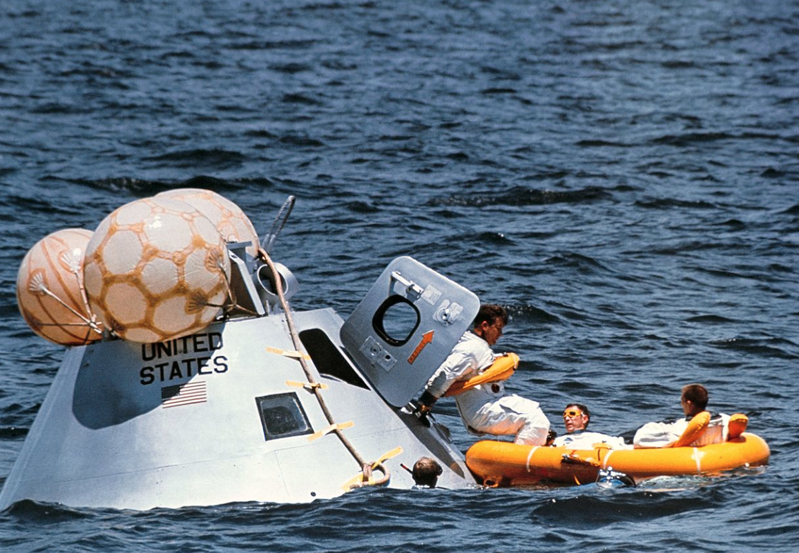 Apollo 16 lunar module on its return to Earth (courtesy of NASA)
