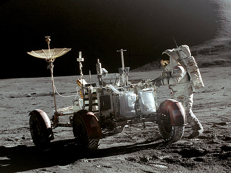 Apollo 15 rover (courtesy of NASA)