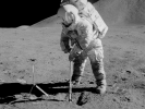 Sampling regolith (courtesy of NASA)