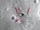 Apollo 11 sample location map