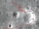 Apollo 12 sample location map