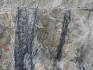 Cassiterite-tourmaline veins in Littlejohns china clay pit