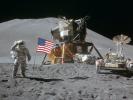 Apollo 15 lunar module and rover (courtesy of NASA)