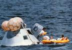 Apollo 16 lunar module on its return to Earth (courtesy of NASA)